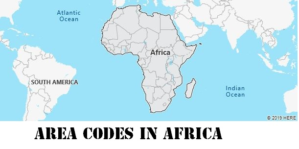 Area Codes in Africa