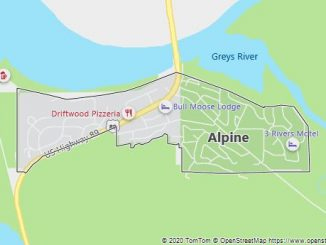 Map of Alpine, WY