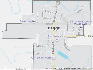 Map of Baggs, WY