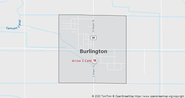 Map of Burlington, WY