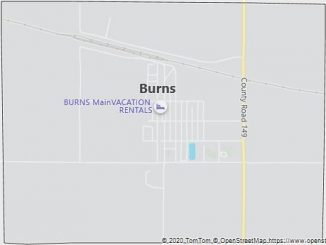 Map of Burns, WY