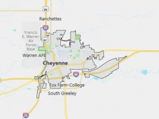Map of Cheyenne, WY