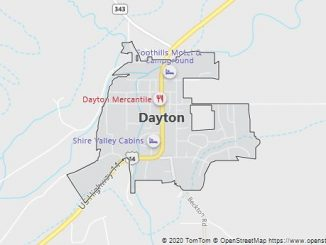 Map of Dayton, WY