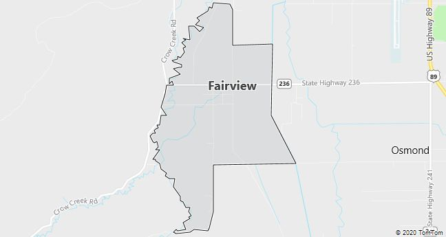 Map of Fairview, WY