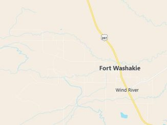 Map of Fort Washakie, WY