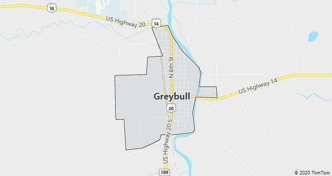 Map of Greybull, WY