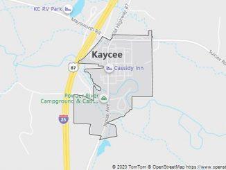 Map of Kaycee, WY