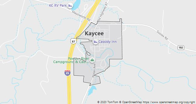 Map of Kaycee, WY
