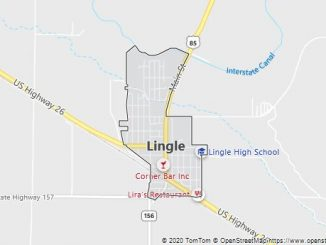 Map of Lingle, WY