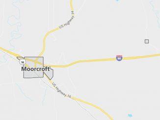 Map of Moorcroft, WY