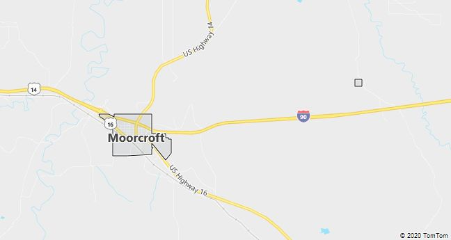 Map of Moorcroft, WY