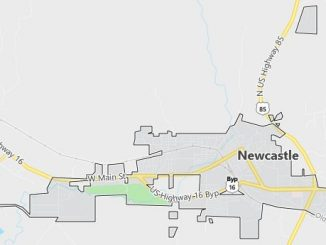Map of Newcastle, WY
