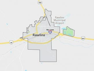 Map of Rawlins, WY