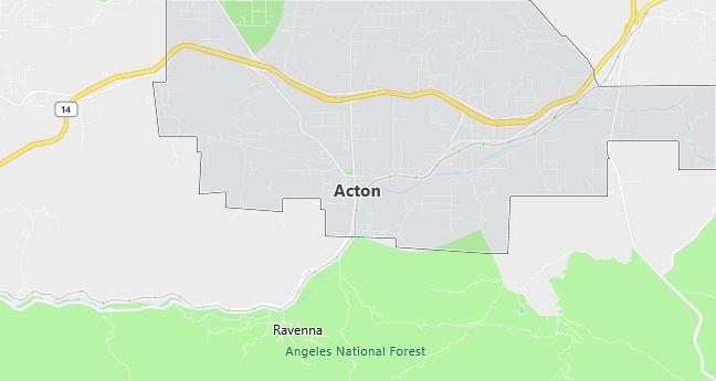Map of Acton, CA