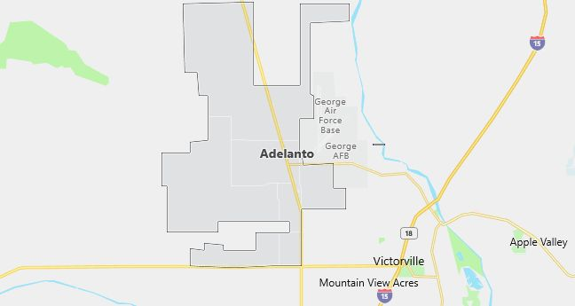 Map of Adelanto, CA