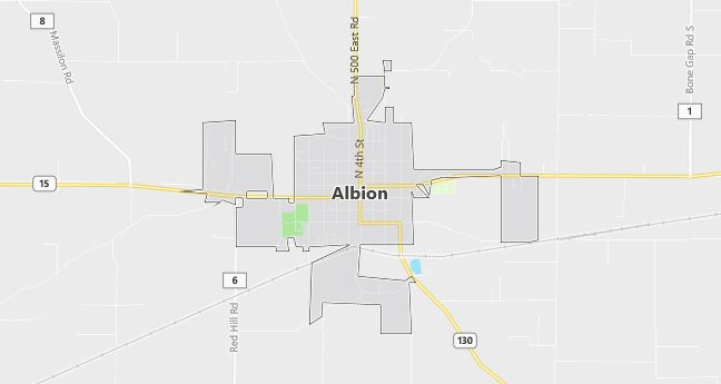 Map of Albion, IL