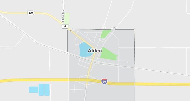 Map of Alden, MN