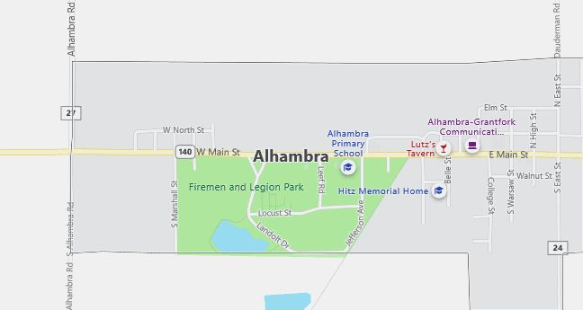 Map of Alhambra, IL