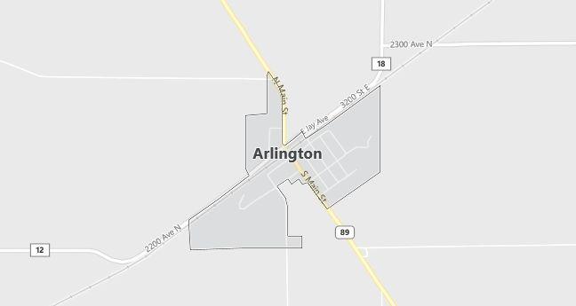 Map of Arlington, IL