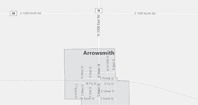 Map of Arrowsmith, IL