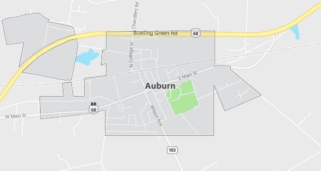 Map of Auburn, KY