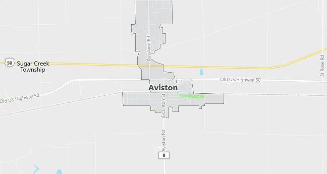 Map of Aviston, IL