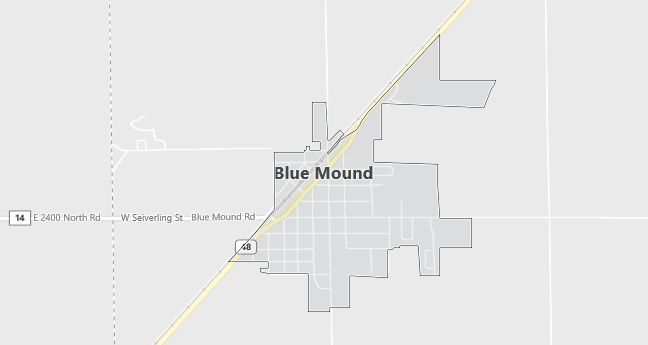Map of Blue Mound, IL