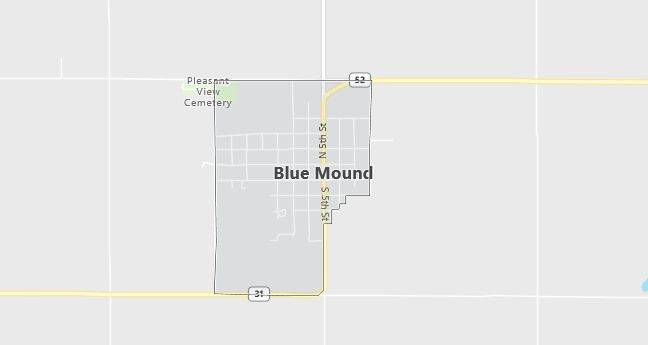Map of Blue Mound, KS