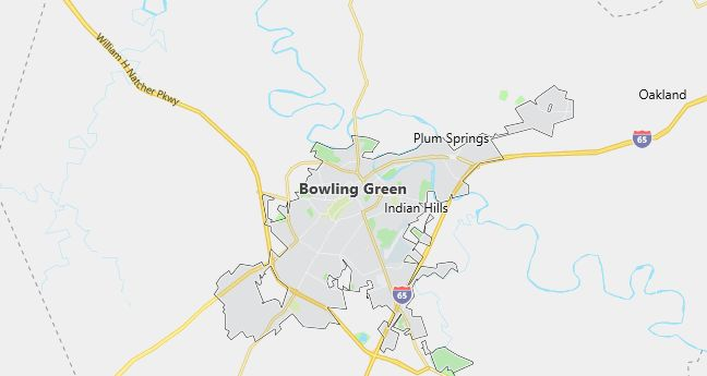 Map of Bowling Green, KY