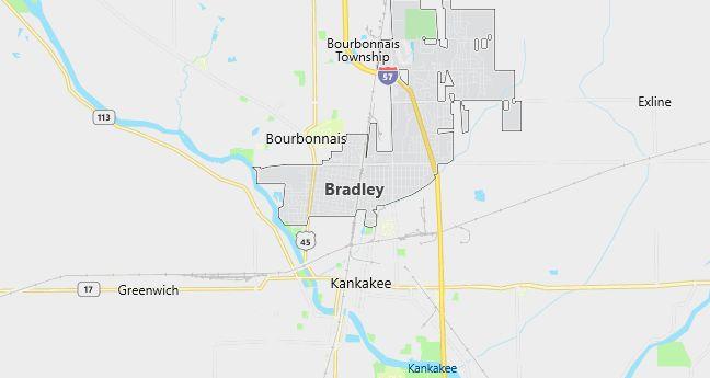 Map of Bradley, IL