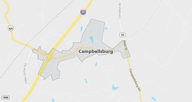 Map of Campbellsburg, KY