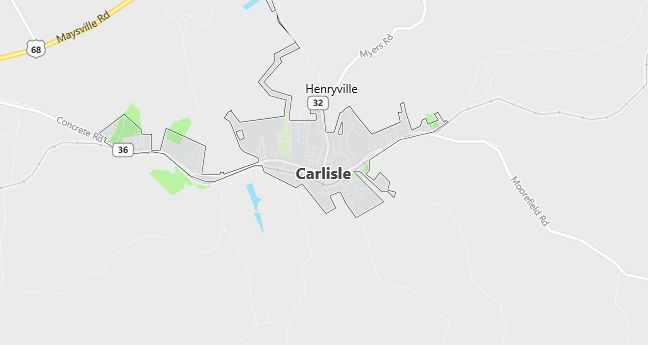 Map of Carlisle, KY