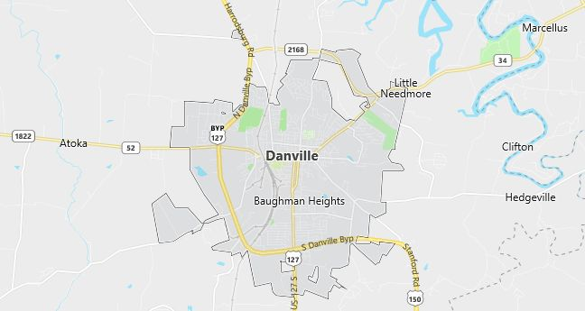 Map of Danville, KY