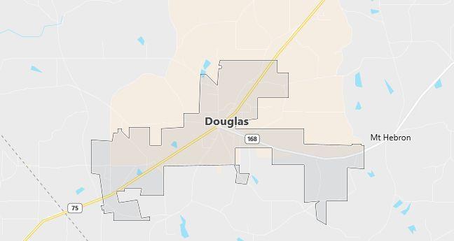 Map of Douglas, AL