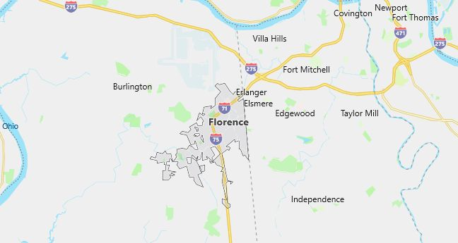 Map of Florence, KY