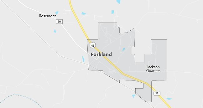 Map of Forkland, AL