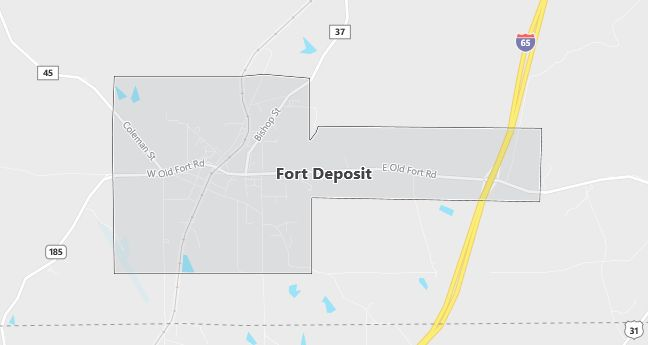 Map of Fort Deposit, AL
