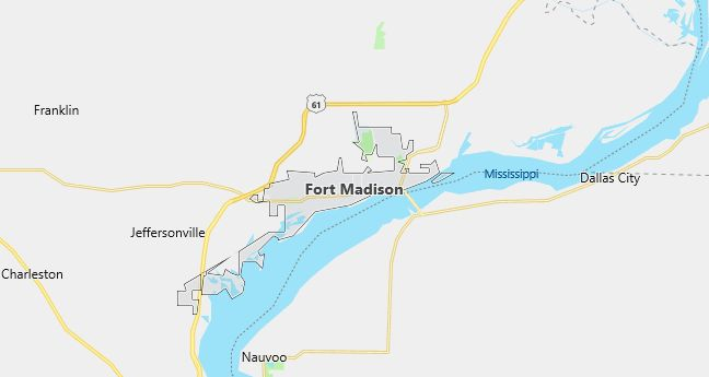 Map of Fort Madison, IA