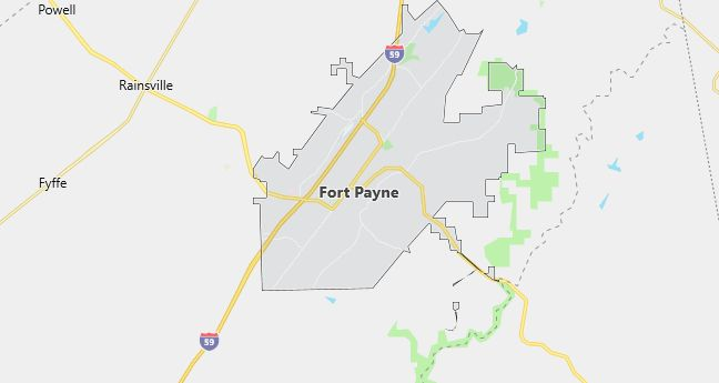 Map of Fort Payne, AL
