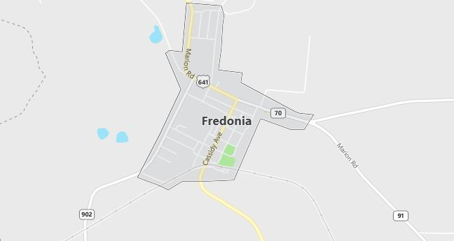 Map of Fredonia, KY