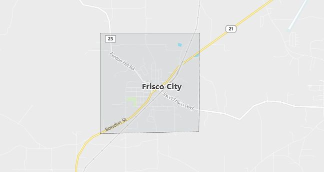 Map of Frisco City, AL