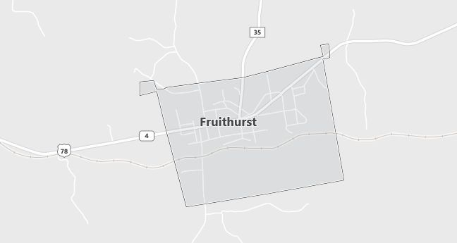 Map of Fruithurst, AL