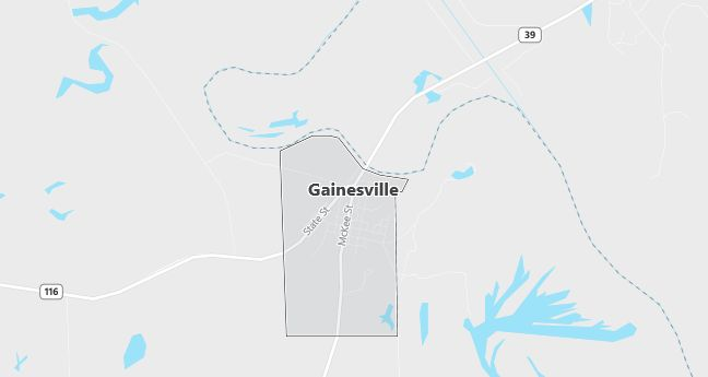 Map of Gainesville, AL