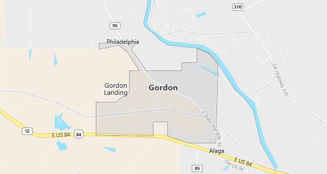 Map of Gordon, AL