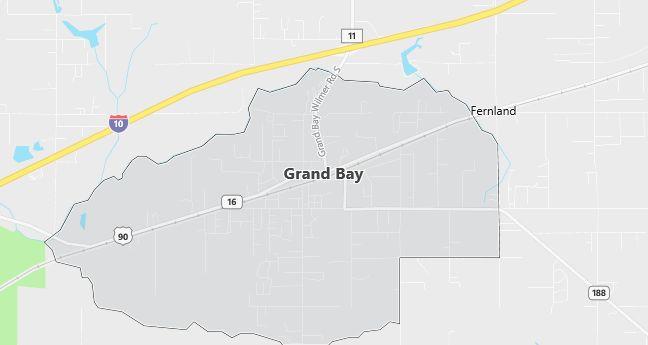 Map of Grand Bay, AL