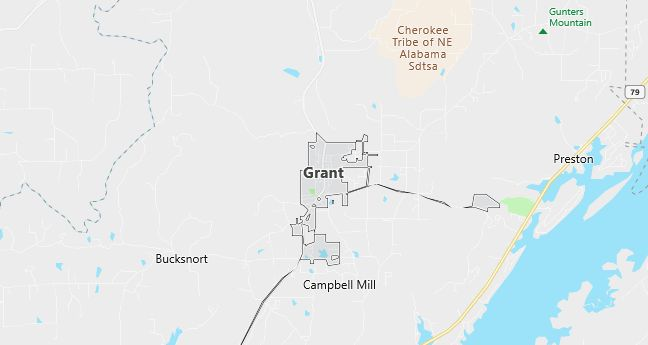 Map of Grant, AL