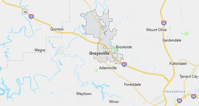 Map of Graysville, AL