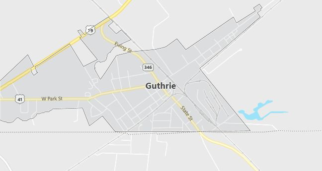Map of Guthrie, KY