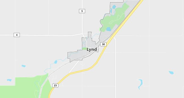 Map of Lynd, MN