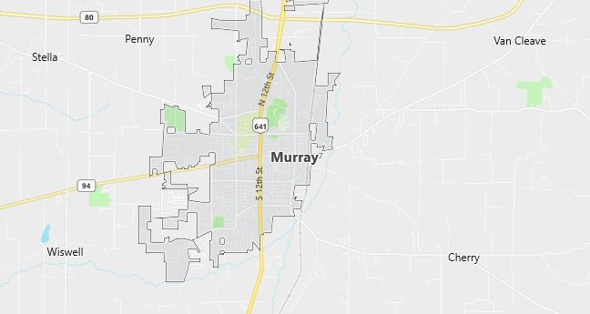 Map of Murray, KY